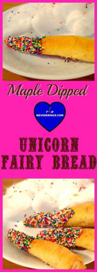 Maple Dipped Unicorn Fairy Bread