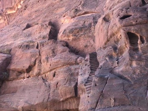 stairs to petra water system