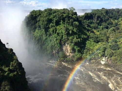 Rainbow Zambezi River Bridge Victoria Falls