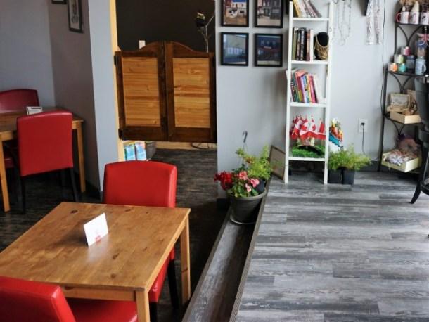 Sweetgrass cafe Trochu tables