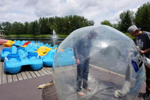 Water ball on Bower Pond