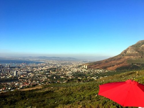 View Capetown from Table Mountain
