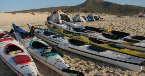 kayaks tents Baja Mexico