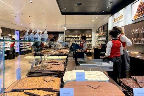 travel to Switzerland Laderach Chocolate Shop