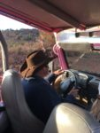 Our Pink Jeep Tours Guide, Glenn, driving while on the Diamondback Gulch Tour