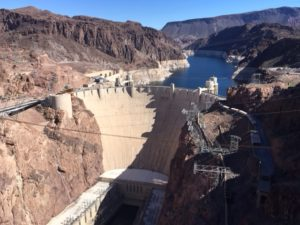 View of Hoover Dam from Mike O'Callaghan-Pat Tillman Bridge