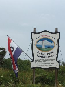 The Point Prim Lighthouse sign at Entrance