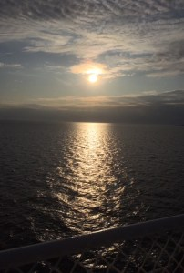 Sunset Reflection Over the Water taken on Ferry to PEI