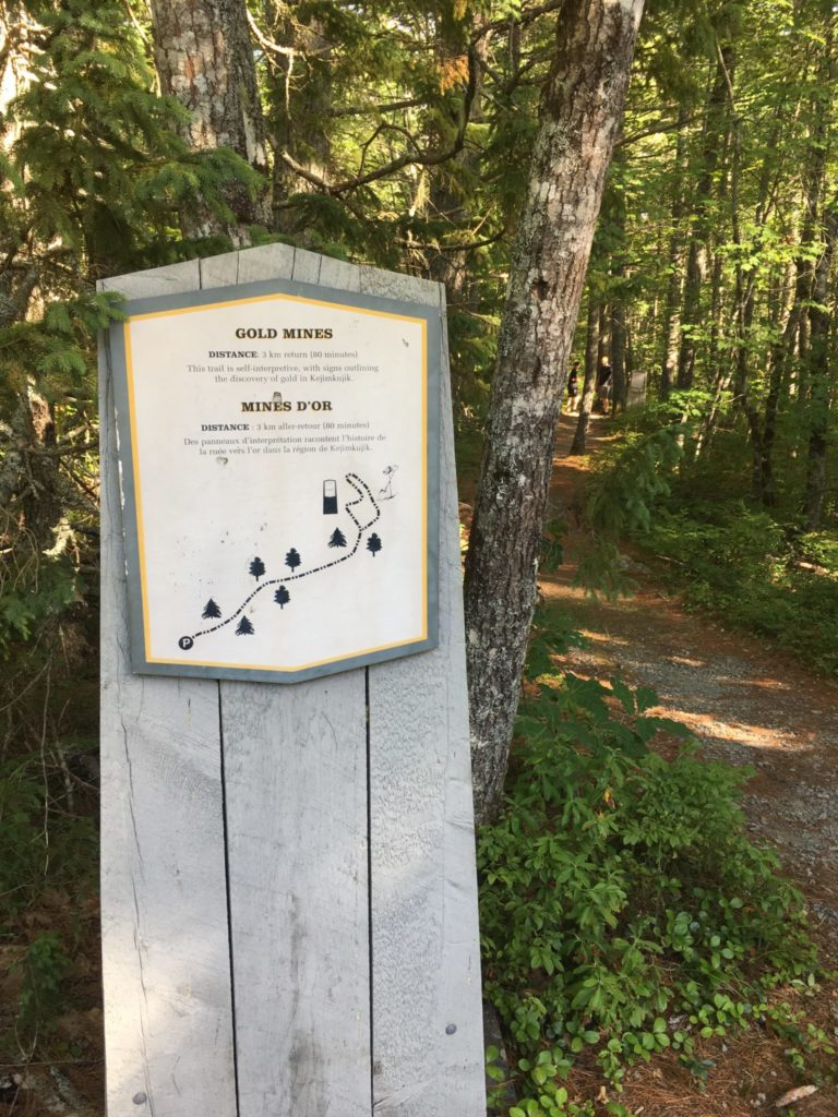 Gold Mines Map Sign