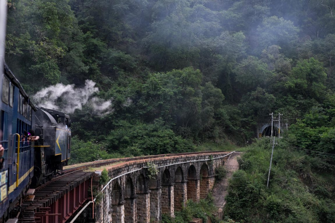 The Nilgiri Mountain Railway Express on the way to ooty.