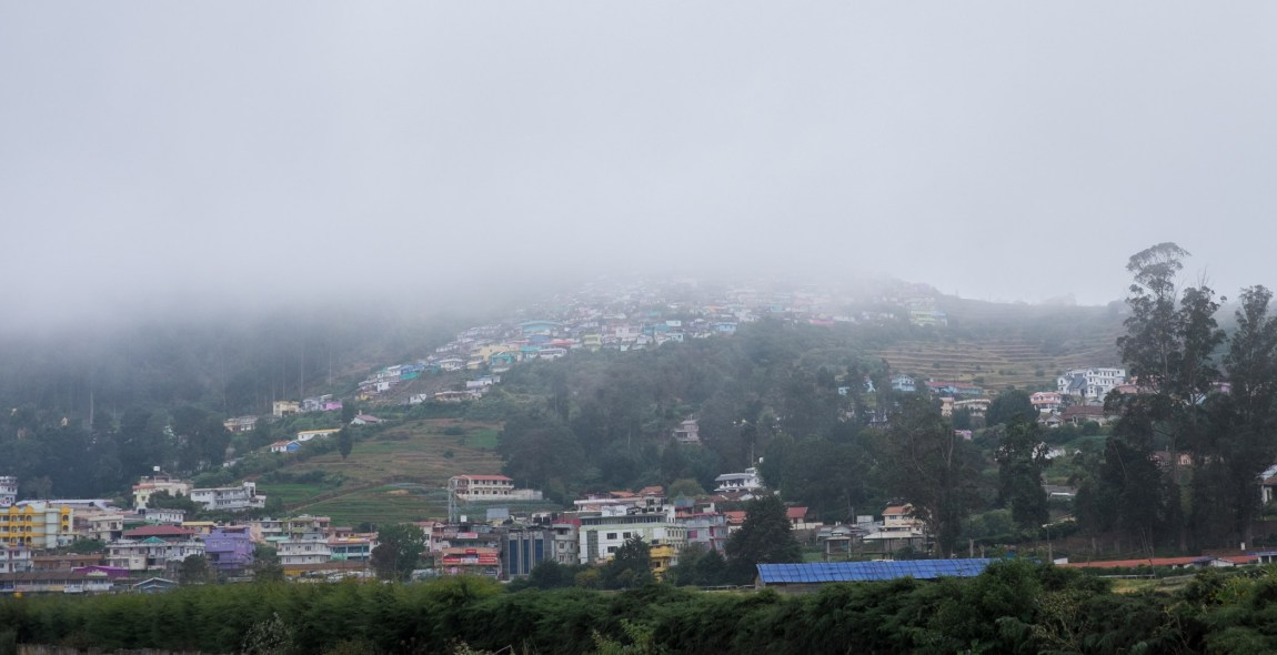 Misty views over Ooty.