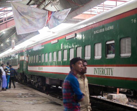 Trains in Bangladesh are a great way to get around the country.