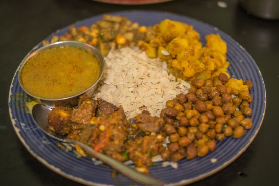 A plate of newari kaja in Nepal