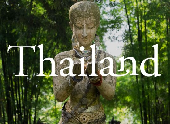 A statue in a Thai forest near Chiang Mai.