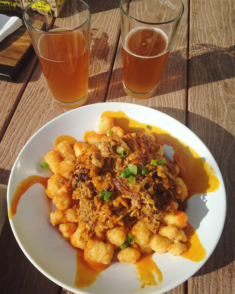 Day Trip Guide: Dunedin, FL - Tater Tot Poutine at Dunedin Brewery