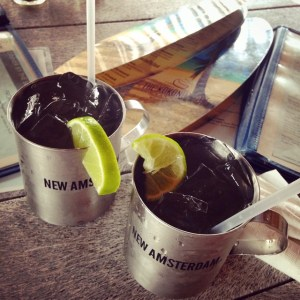 Moscow Mules with an island twist at the Kokonut Hut in Anna Maria Island