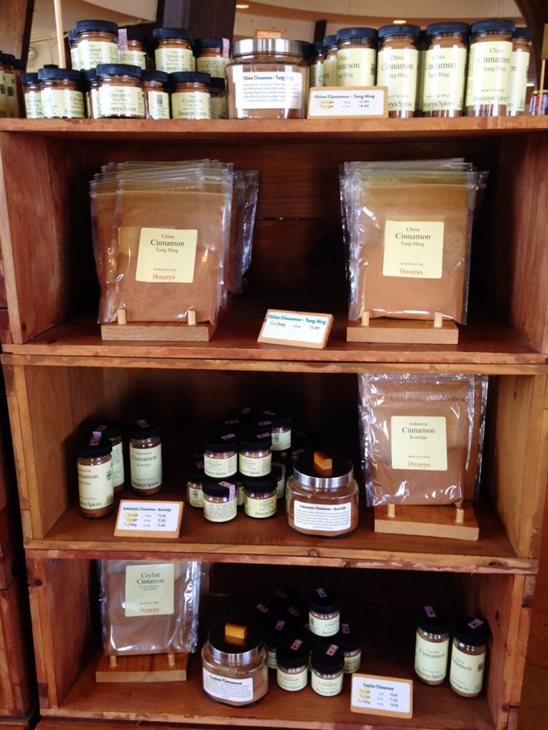 Penzey's Spices Cinnamon Display