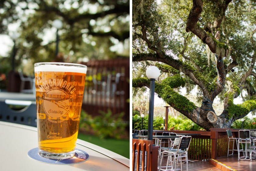 Motorworks Brewing in Bradenton, FL is a great stop on the way to Anna Maria Island. Sample the Lavender Ale in their outdoor beer garden!