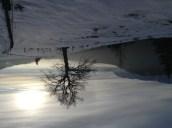 Winter mountain scene austria