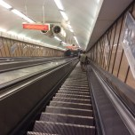 Escalator in Budapest