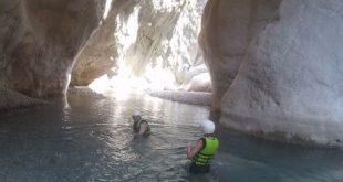 Wading through Goynuk Canyon