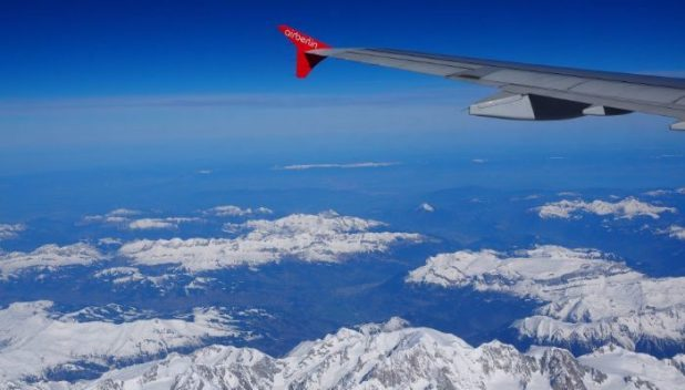 Mountain views from your window seat paid for with your airmiles