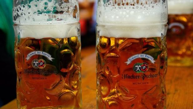 Beer steins at Oktoberfest