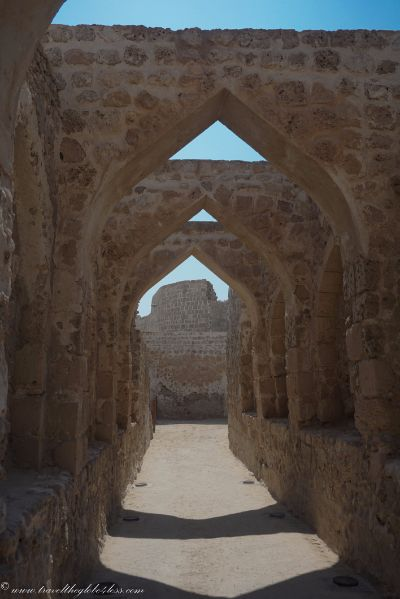 The archways of Bahrain Fort