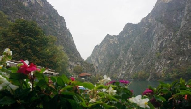Matka Canyon on a drizzly day