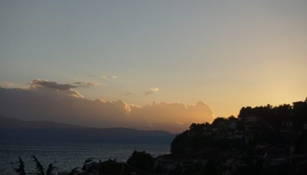 Sunset on Lake Ohrid, Macedonia