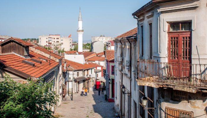 The olf town of Skopje, Macedonia