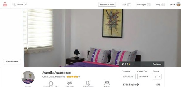 Aurelie apartment on Airbnb