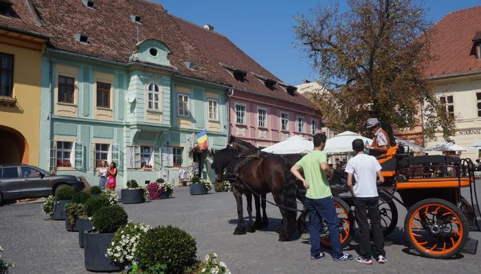 The town square of Sighisoara