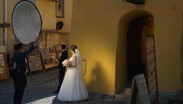 Bride in Sighisoara