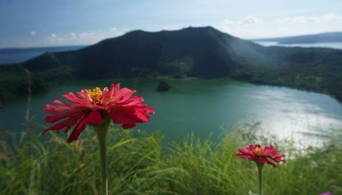 The Taal Volcano crater