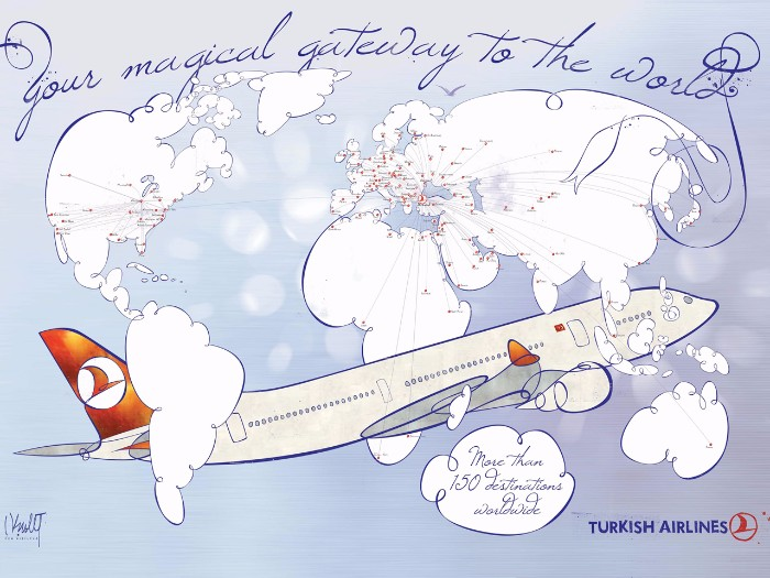 Travel the world with Turkish Airlines