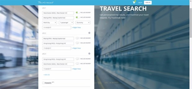 Tripsearch home page