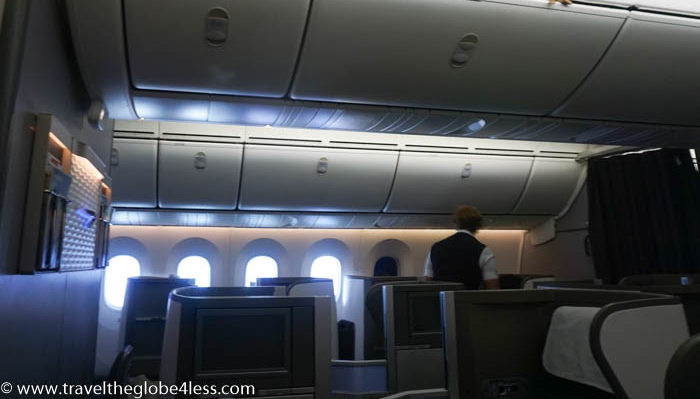 Dreamliner club world cabin