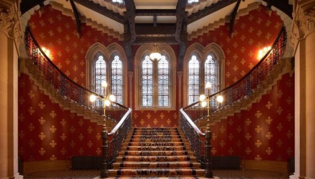 The staircase of the grandest St Pancras hotel