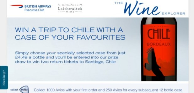 earn AVIOS from your wine order