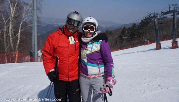 Skiing in Yongpyong
