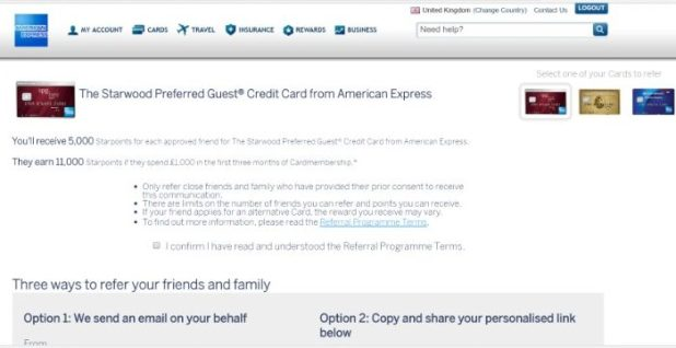 SPG American Express referral