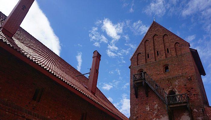 Trakai castle courtyard