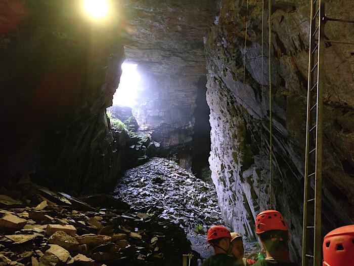 Training at Zipworld Caverns