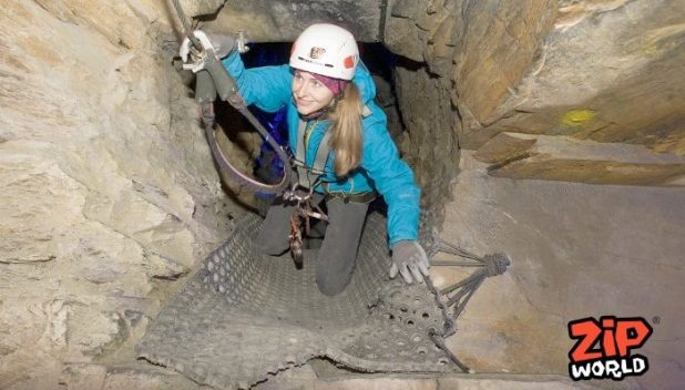 Tunnels in the Zipwire caverns