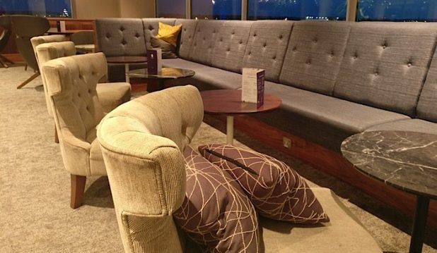 Lounge are of the Gatwick airport lounge