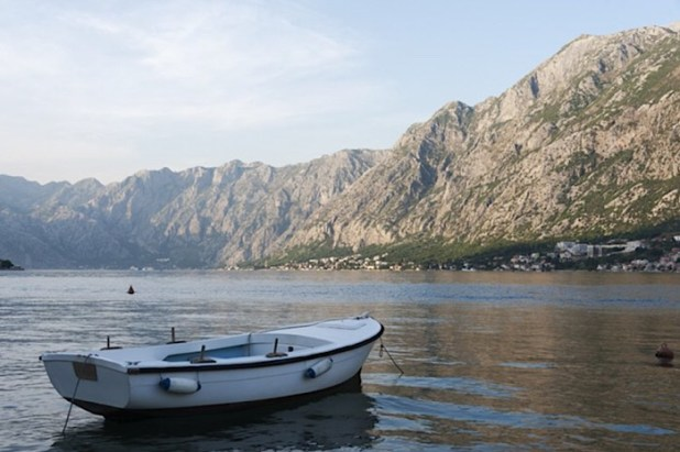 Fishermen boats on Kotor bay