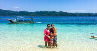 Melissa on the tropical beach
