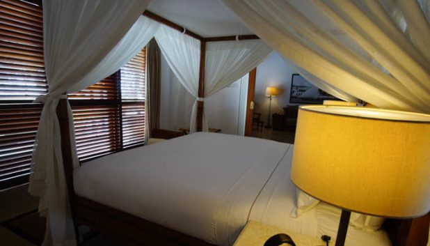 The bedroom in the Oceanview villa at the Residence Zanzibar