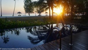 Residence Zanzibar Oeanview villa pool at sunset